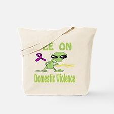 Pee on Domestic Violence Tote Bag