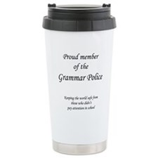 Cute Grammar police Travel Mug