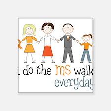 """The MS Walk Square Sticker 3"""" x 3"""""""
