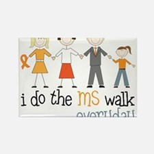 The MS Walk Rectangle Magnet