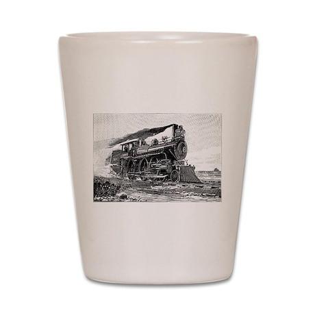 Steam Locomotive Shot Glass