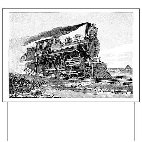 Steam Locomotive Yard Sign