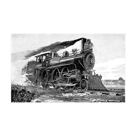 Steam Locomotive 35x21 Wall Decal