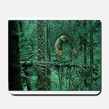 Green Woods Owl Mousepad
