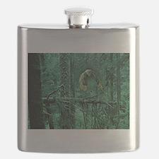 Green Woods Owl Flask