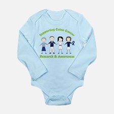 Supporting Colon Cancer Long Sleeve Infant Bodysui