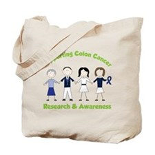 Supporting Colon Cancer Tote Bag