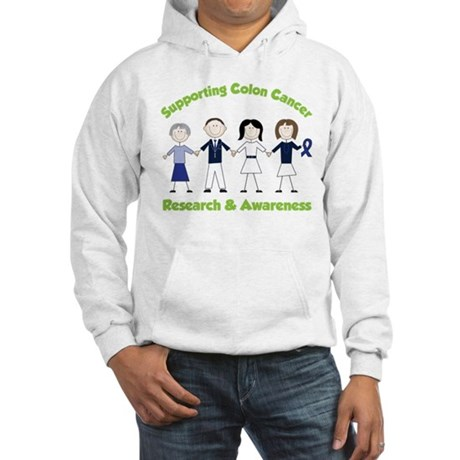 Supporting Colon Cancer Hooded Sweatshirt