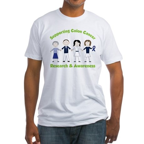 Supporting Colon Cancer Fitted T-Shirt