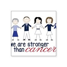 "We Are Stronger Square Sticker 3"" x 3"""