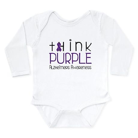 Think Purple Long Sleeve Infant Bodysuit