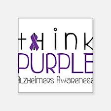 "Think Purple Square Sticker 3"" x 3"""