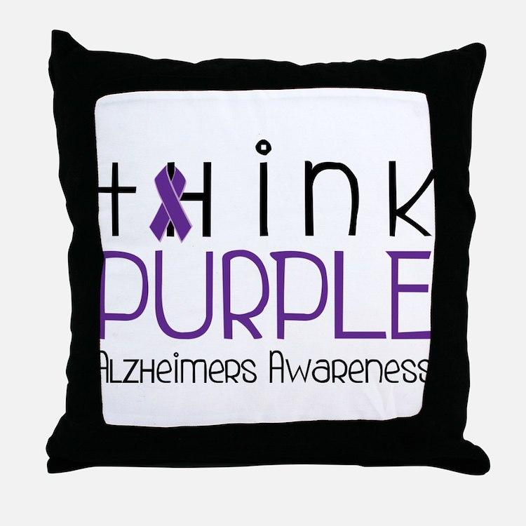 Think Purple Throw Pillow