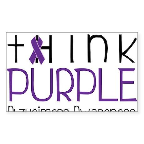 Think Purple Sticker (Rectangle)