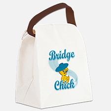 Bridge Chick #3 Canvas Lunch Bag