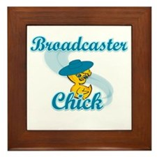 Broadcaster Chick #3 Framed Tile