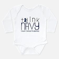 Think Navy Long Sleeve Infant Bodysuit