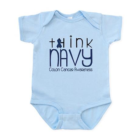 Think Navy Infant Bodysuit