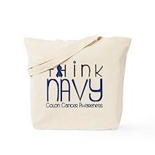 Think Navy Tote Bag