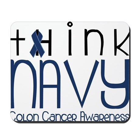 Think Navy Mousepad