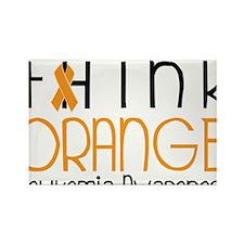 Think Orange Rectangle Magnet