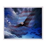 American flag and eagle Blankets
