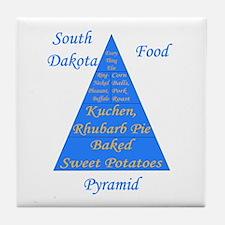 South Dakota Food Pyramid Tile Coaster