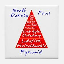 North Dakota Food Pyramid Tile Coaster