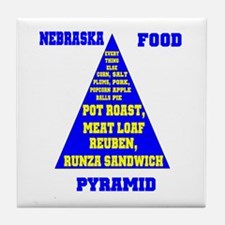 Nebraska Food Pyramid Tile Coaster