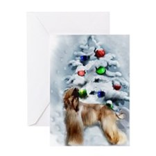 Afghan Hound Christmas Greeting Card