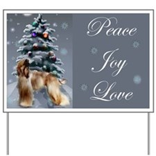 Afghan Hound Christmas Yard Sign