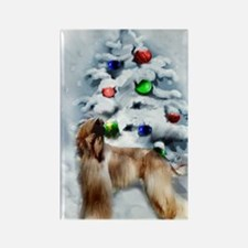 Afghan Hound Christmas Rectangle Magnet (10 pack)
