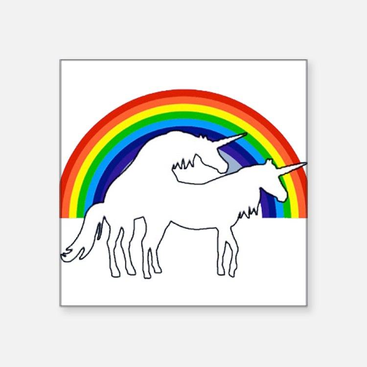 Wall stickers unicorn - Gay Unicorns Car Accessories Auto Stickers License