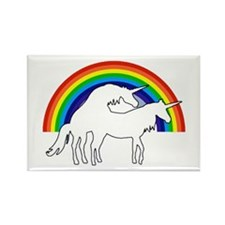 Humping Unicorns Rectangle Magnet
