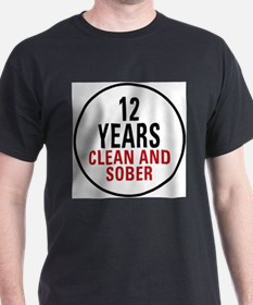 12 Years Clean & Sober T-Shirt