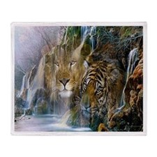 Lion Falls Throw Blanket