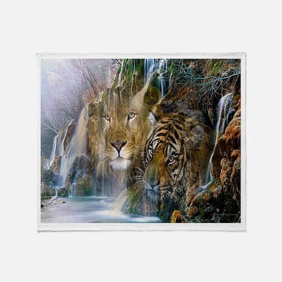 Lion Falls Throw Blanket