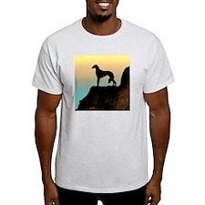 Saluki Sunset Cliff Ash Grey T-Shirt