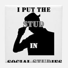 I put the Stud in Social STUDies Tile Coaster