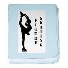 Figure Skating - Biellmann baby blanket