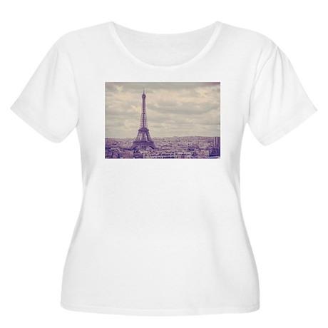 Eiffel Tower Women's Plus Size Scoop Neck T-Shirt