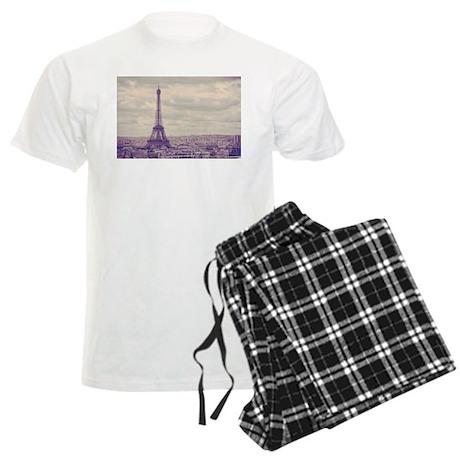 Eiffel Tower Men's Light Pajamas