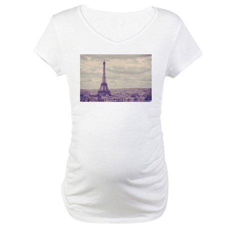 Eiffel Tower Maternity T-Shirt