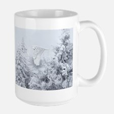 Snowy Owl in Blizzard Mug