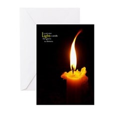 Light a Candle iPad or Tablet Cover Greeting Cards