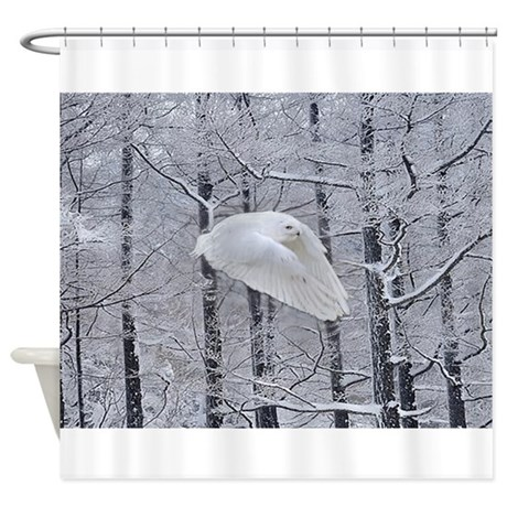 Snowy Owl, Praying Wings Shower Curtain