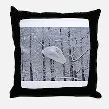 Snowy Owl, Praying Wings Throw Pillow