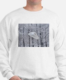 Snowy Owl, Praying Wings Sweatshirt