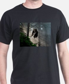 Owl flying out of forest T-Shirt
