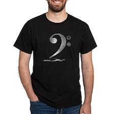 """Shadowy """"Silver"""" Bass Clef T-Shirt"""